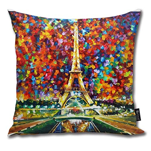 Paris Of My Dreams Leonid Afremov - Funda de cojín (algodón, 45,7 x 45,7 cm)