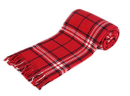 Arus, Kuscheldecke Wohndecke Tagesdecke Couch Überwurf Plaid Reisedecke, Red Label, Baumwollmischgewebe, ca. 150x200 cm, 380 gr cm²