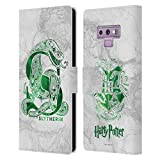 Head Case Designs Officiel Harry Potter Slytherin Aguamenti Deathly Hallows IX Coque en Cuir à...