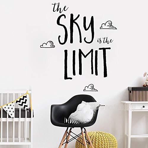 JXWH 56cm x 65cm Love Inspirational Wandaufkleber Sky ist der ultimative Art Family Baby Kinderzimmer Kind Kinderzimmer Dekoration Aufkleber Vinyl Aufkleber