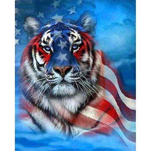 Pussel 300 bitar för vuxna - American Tiger Puzzle - Utmärkta skärpussel - Levande färger passar Family Challenge Puzzle Puzzle 52,5 × 38,5 cm