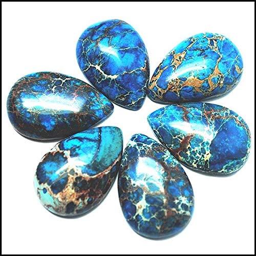 NPIL Kristalle, Kristalle Blau Heilung, Kristalle Natürliche und Heilsteine eignen Sich for die Herstellung von Schmuck, Raumdekoration Dekorationen (Item Diameter : 20x30mm)