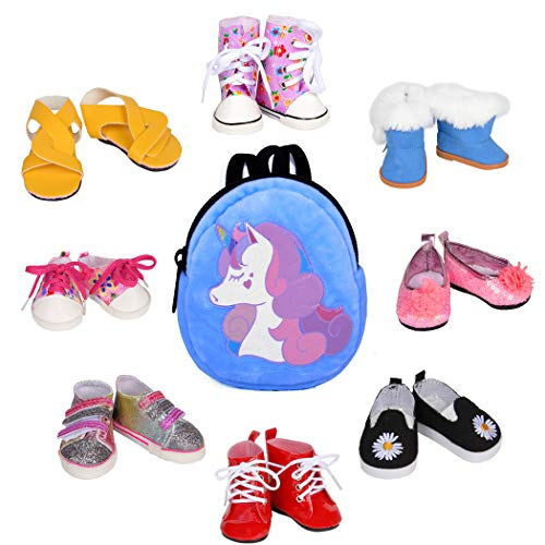 ebuddy 8pc Doll Clothes Shoes 1pc Mini Doll Bag for 18 inch Doll like...