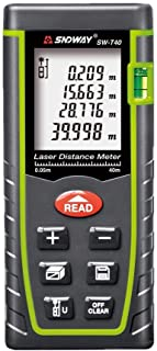 SNDWAY SW-M40 Digital Laser Rangefinder 40M Distance Meter Tape Measure Area Volume Diastimeter