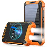 Best Power Bank With Cables - Solar Power Bank 36000mAh Built-in 4 Cables Qi Review