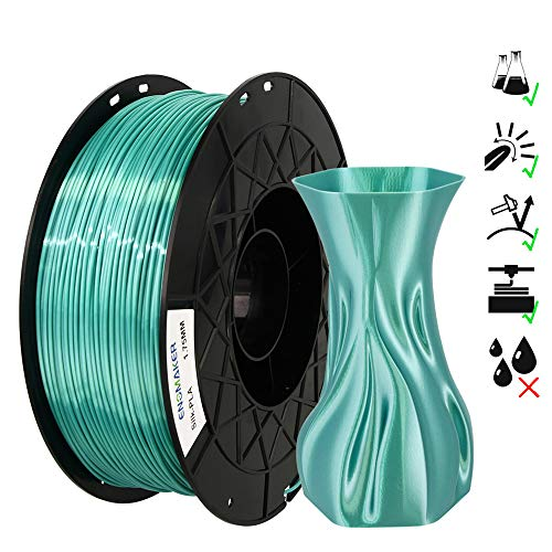 ENOMAKER 3D-Drucker Silk PLA Grün 1,75 mm Filament für Creality Ender 3 V2, Ender 3 Pro V2