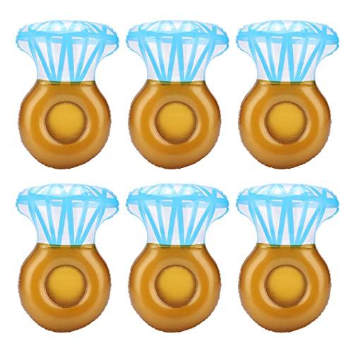01 Juguete de la Taza de los flotadores, portavasos flotantes de la Piscina Anillo de Diamante portátil para la Piscina para la Fiesta del Agua