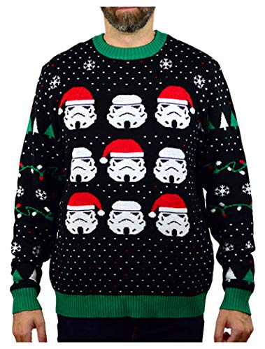 Star Wars Stormtroopers Ugly Christmas Sweater Men Women Holiday Sweater X-Large Multicolor