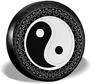 Chinese Yin Yang Tao Mandala Element Wheel Tire Protector Tires Protector Tire Cover Waterproof Uv Sun 14 - 17 Fit for Jeep Trailer Rv SUV and Many Vehicle
