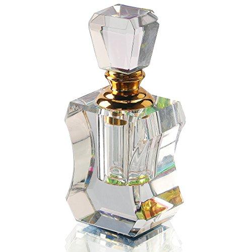 H y D Vintage transparente de botes de Perfume vacío recargable botella de cristal Mini casa decoración de la mesa de viaje regalo (AB Color)