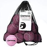 Gamma Bag of Pressureless Tennis Balls - Sturdy & Reuseable Mesh Bag with Drawstring for Easy Transport - Bag-O-Balls (18-Pack of Balls, Pink)