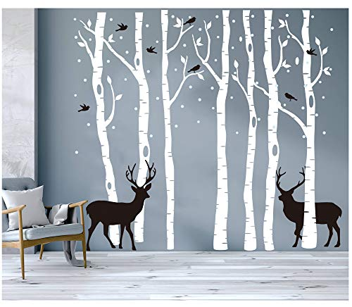 7 White Brichs Wall Stickers by BDECOLL,Merry Christmas...