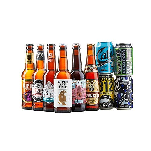 Beer Hawk Craft Beer Mixed Case Gift Set – 10 Beer Selection Inc Pale Ale, IPA & Pilsner Perfect Christmas Hamper Gift Idea