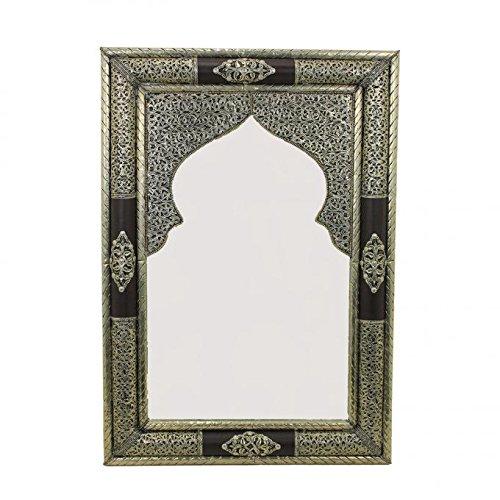 Casa Moro SP9040 - Espejo de pared (latón, hecho a mano, estilo oriental, estilo marroquí, 1001 noches)