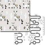 TETAKE Spielmatte Baby, Groß Krabbelmatte Baby XXXL, Doppelseitig Faltbar Krabbeldecke für Baby, wasserdichte rutschfest Spieldecke Babydecke Spielmatten mit Motiv, 200 x 180 cm