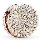 Pandora Jewelry Reflexions Round Clip Cubic Zirconia Charm - Pandora Rose