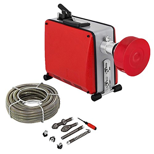 FlowerW Elektrische Abflussreinigungsmaschine 220 V 390 Watt / 400 Watt Rohrbaggermaschine Hochdruckreinigungsmaschine Entriegelung Dusche (GQ-100)