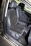 Durapower Autofield Universal Front Seat Cover, EVA Material Waterproof Protector for Suvs,Vans,Trucks,Sedans(Black-1PC)