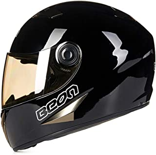 Laikeone Full Face Motorbike Helmet, Lightweight Safety Motorcycle Helmet Motorcycle Locomotive Full Face Anti-Fog Helmet Men and Women DOT&ECE Approved,XL