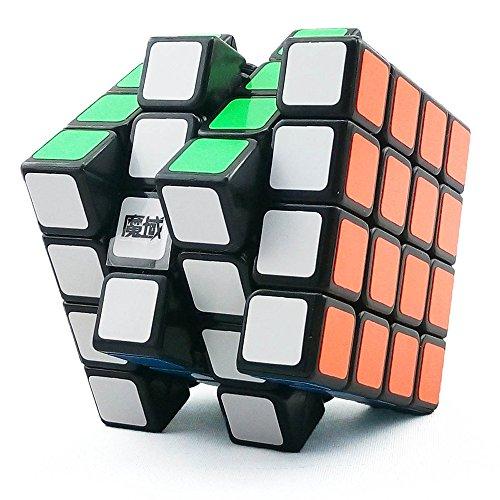 HJXDtech-Moyu Aosu 4X4X4 Cubo mágico Gran FT Antipop Cubo de la Velocidad (Negro)