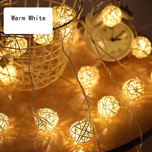 Lantaarn Fairy Lights Led-lichtsnoer, waterdichte tuinverlichting, werkt op batterijen, kleurverandering, lichtketting voor buiten, voor tuin, balkon, kerstmis