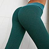 Leggings de Mujer de Cintura Alta Leggings de Fitness para Mujer Leggings de Alta Elasticidad para Mujer Pantalones de Yoga M Verde