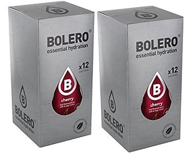 Bolero Drink Bebida Instantánea en Polvo Cereza (paquete de 24) sin azúcar