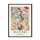 Carteles e impresiones retro de la línea abstracta de Matisse Henry Moore, cuadros de arte de pared de alta definición, pinturas en lienzo sin marco A5 50x75cm