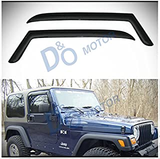 TuningPros WD-179 Tinted Smoke Out-Channel Window Visor Deflector Rain Guard 2-pc Set