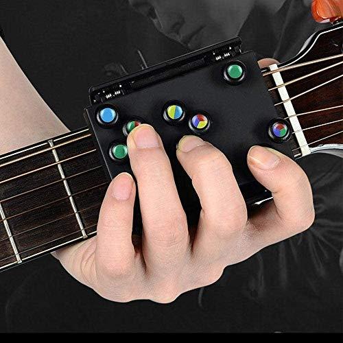 Chord Buddy Gitarre Lernsystem für Anfänger Trainer, Gitarre Anfänger Werkzeug Gitarrenaufsatz Assisted Lernwerkzeuge Konzertgitarre Praxis Tool für Erwachsene, Kinder, Trainer & Anfänger