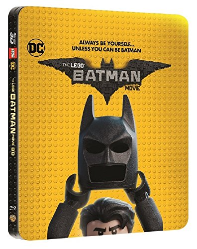 The Lego Batman Movie Limited Edition Steelbook 3D/2D / Region Free Blu Ray