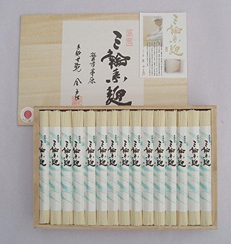 極上 手延べそうめん 三輪素麺 「極細」 木箱 のし付 1,500g 30束 奈良 三輪山麓にて製造