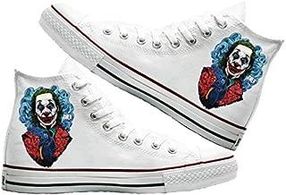 Art T-Shirt -Joker Baskılı Unisex Canvas Ayakkabı
