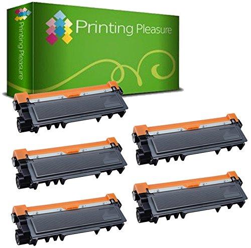 5 Toner Compatibili TN2320 Cartuccia Laser per Brother HL-L2300D HL-L2340DW HL-L2360DN HL-L2365DW DCP-L2500D DCP-L2520DW DCP-L2540DN DCP-L2560DW MFC-L2700DW MFC-L2720DW MFC-L2740DW - Nero, Alta Resa