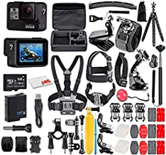 GoPro HERO7 Black - E-Commerce Packaging - Waterproof Action Camera with Touch Screen, 4K HD Video, 12MP Photos, Live Streaming and Stabilization - with 50 Piece Accessory Kit - Fully Loaded Bundle