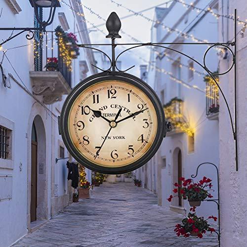 Jroyseter Reloj De Doble CaraReloj De Estación De Pared Ins