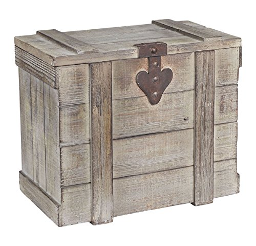 Household Essentials Decorative Wooden Trunk