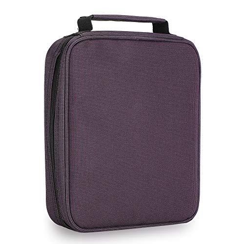 Estuche para bolígrafos de tela mate, accesorio de papelería para rotuladores (púrpura)