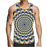 Hiser Homme Débardeur Été, 3D Personnalité & Créatif Imprimé sans Manches Muscle Tank Top Respirant T-Shirt Sleeveless Débardeurs pour Workout Musculation Exercising - S-3XL (Style de Mandala,XL)