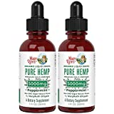 Pure Hemp Oil Extract (2 Pack) 5000mg by MaryRuth's | for Ingestible & Topical Use | Non-GMO | Peppermint | 1oz