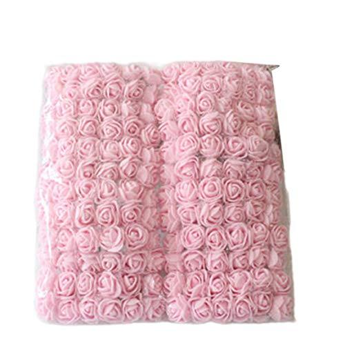 #NA 144 Piezas de Rosas con Hilo de Bricolaje Flores de plástico Ramos de Novia Materiales de Guirnalda Flores Artificiales