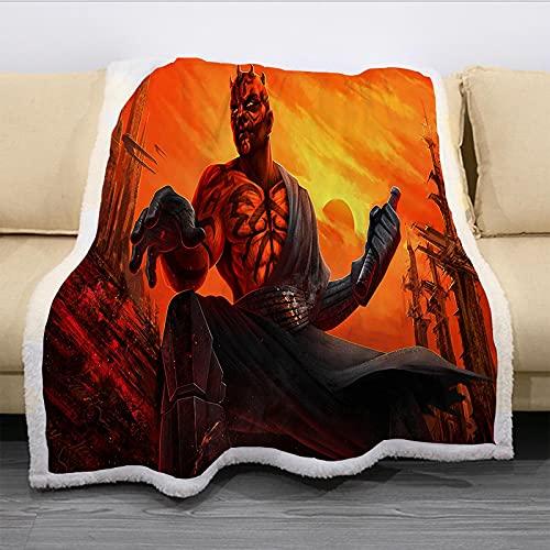 Acogedoras Mantas Adultas Mujeres, Diseño De Impresión 3D Guerra De Las Galaxias Manta Gruesa, Premium Microfibra Suave Y Cálida Ropa De Cama Mullida Colorida (180X220Cm)