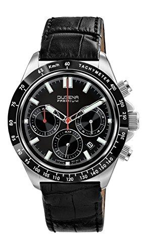 Dugena Herren-Armbanduhr IMOLA XL CHRONO Chronograph Quarz Leder 7000170