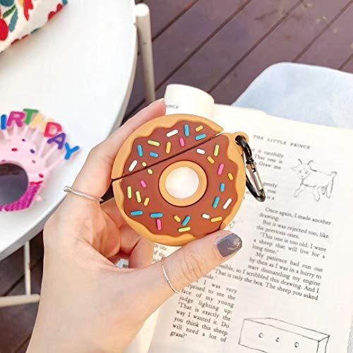 SevenPanda für Airpods 2 & 1 Hülle, Süße 3D Funny Cartoon Soft Silikon Airpod Hülle, Kawaii Fun Cool Catalyst Keychain Hülle, Karabiner Hülle für Mädchen Kinder Teens Jungen (Donuts)