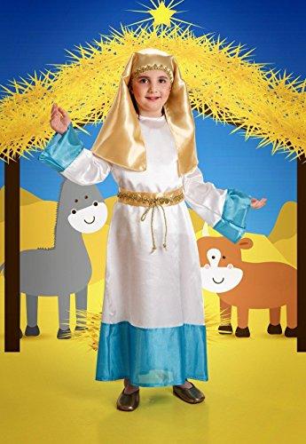 Disfraz de Virgen Infantil Talla 5-7 Años