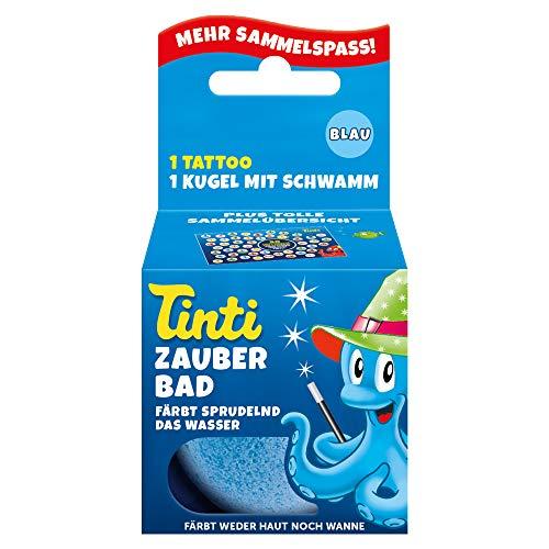 Tinti Zauberbad Blau - Sprudelnde Badekugel mit Überraschung, 1er Pack(1 x 40 g)