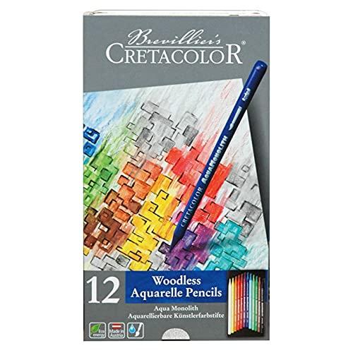 Cretacolor Aqua Monolith Watercolor Pencil Set, 12 STK, Multicolor