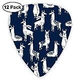 おもろい動物 馬 ピック ギターピック 12個入り それぞれ厚さ カラフル PUレザー ピックケース付き Thin 0.46mm、Medium 0.71mm、Heavy 0.96mm 各4枚