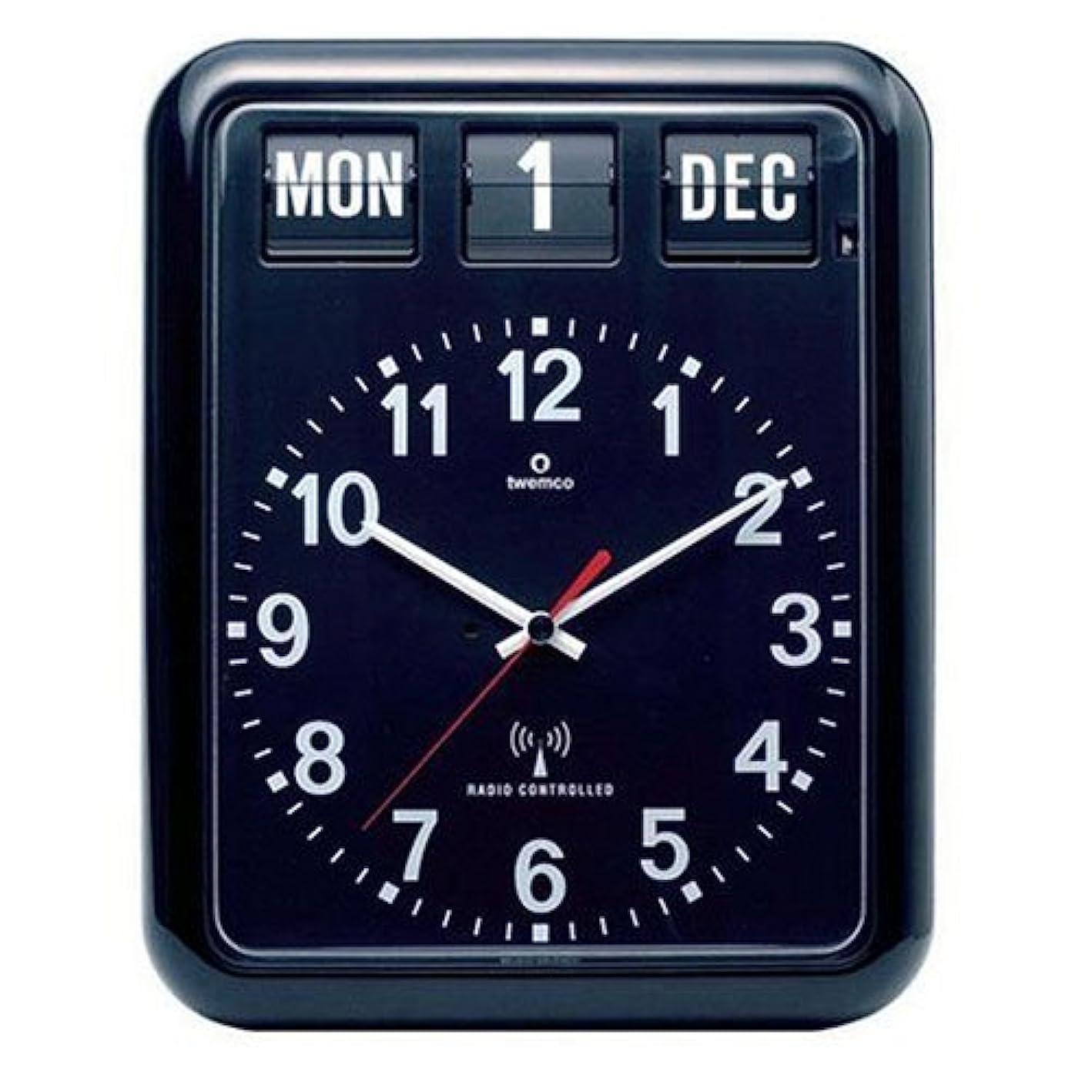逃げるフレキシブルアシュリータファーマンTWEMCO (トゥエンコ) 電波掛け時計 パーペチュアルカレンダー機能 RC-12A Black