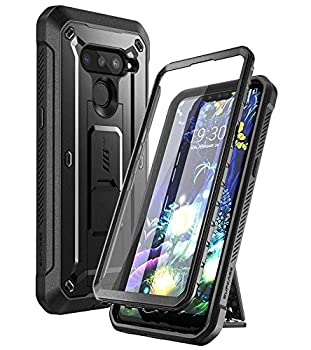 SUPCASE Unicorn Beetle PRO Series Case for LG V50 / LG V50 ThinQ 5G Case 2019 Full-Body Protective Case with Built-in Screen Protector Kickstand & Holster Clip  Black